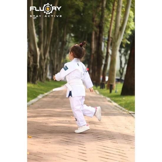 Fluory BJJ Gi Kids Monkey White