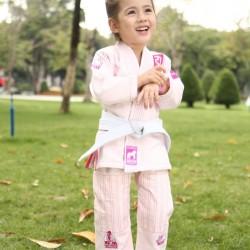 Fluory BJJ Gi Kids Monkey Pink