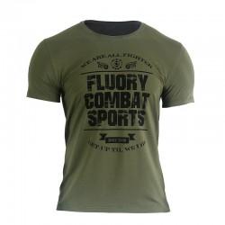 Fluory Combat Sports Tee Green